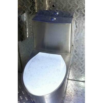 کاسه توالت فرنگی استیل فلش تانک سرخود