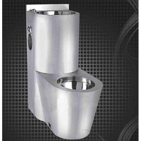 کاسه توالت فرنگی استنلس استیل مجهز به روشویی