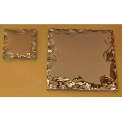 کاشی شیشه ای آینه ای مدل طلایی شکسته