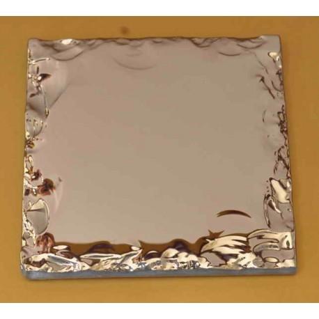 کاشی شیشه ای آینه ای مدل نقره ای شکسته