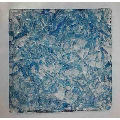 کاشی شیشه ای دست ساز رنگ سرد ماکارونی Sp-C