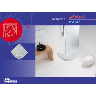 زیردوشی مربع مدل پالما گوشه جلوگرد