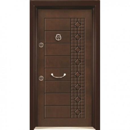 درب ضد سرقت رویه MDF با طرح CNC کد : 3002
