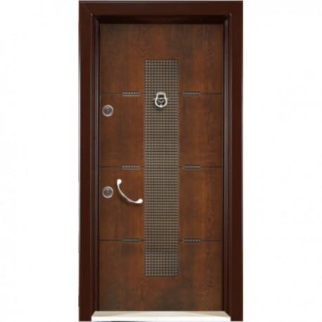 درب ضد سرقت رویه MDF با طرح CNC کد : 3036