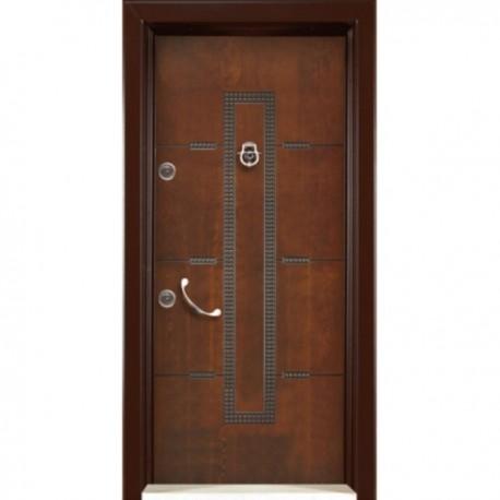 درب ضد سرقت رویه MDF با طرح CNC کد : 3039