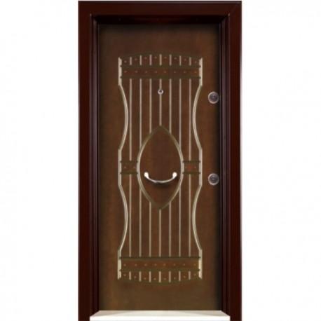 درب ضد سرقت رویه MDF با طرح CNC کد : 3042