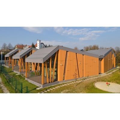 نمای خشک ساختمان آموزشی اسلونی