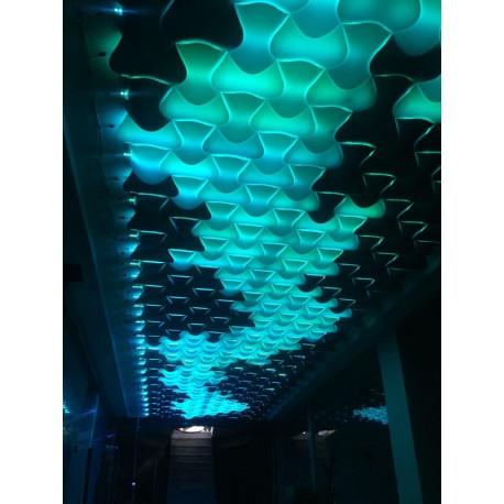 دیوارپوش سه بعدی اسپیلاین پروژه پاساژ جنات سبزوار