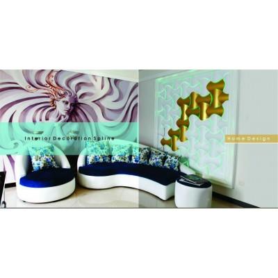 دیوارپوش سه بعدی اسپیلاین پروژه دفتر طراحی و معماری -میرداماد