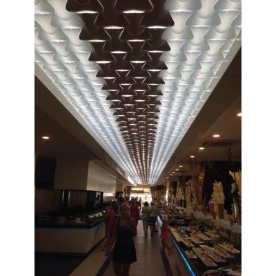 دیوارپوش سه بعدی اسپیلاین پروژه هتل رستوران آنتالیا (ترکیه)