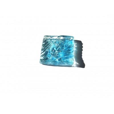 کاشی شیشه ای دست ساز مربعی رنگ چیپسی فیروزه ای