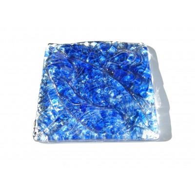 کاشی شیشه ای دست ساز مربعی رنگ چیپسی لاجوردی