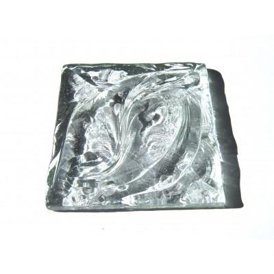 کاشی شیشه ای دست ساز مربعی رنگ سفید