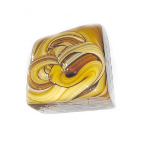 کاشی شیشه ای دست ساز مربعی شکلاتی 5 سانت