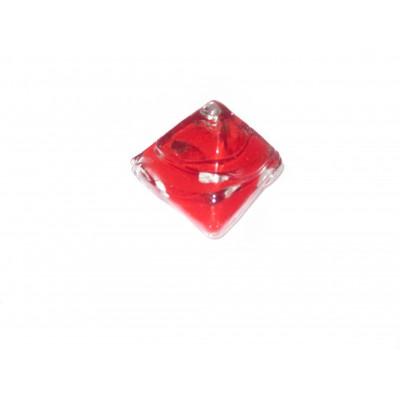 کاشی شیشه ای دست ساز هرم تو رنگی قرمز