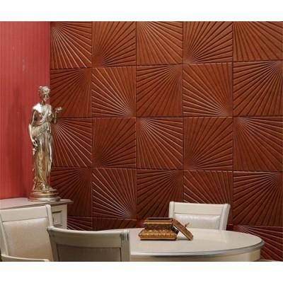 دیوار پوش تمام چرم سه بعدی مدل Palm