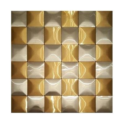 کاشی استیل طلایی نقره ای