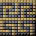 کاشی استیل مشکی طلایی