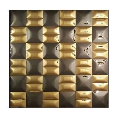 کاشی استیل مشکی طلایی CODE11