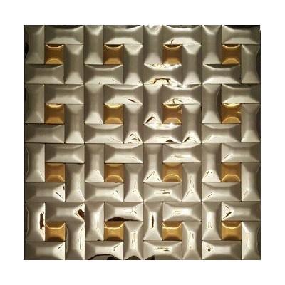 کاشی استیل طلایی نقره ای CODE7