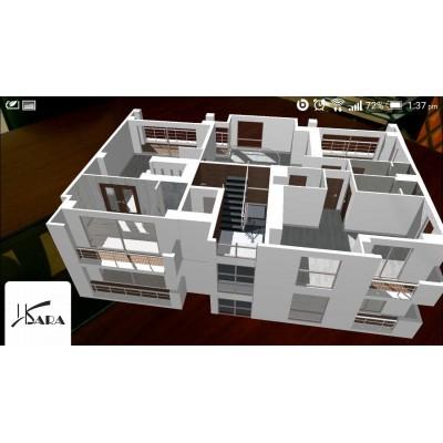 واقعیت افزوده - دموی ماکت ساختمان