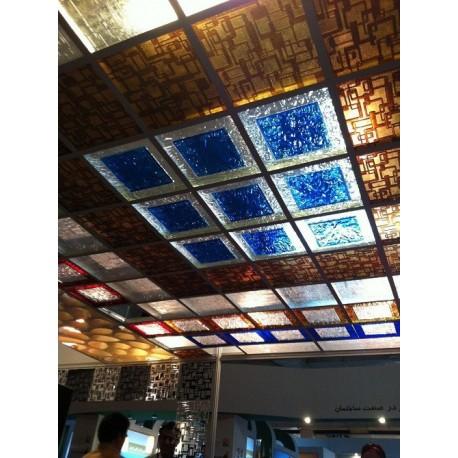 پلکسی سقفی چند رنگ کد2