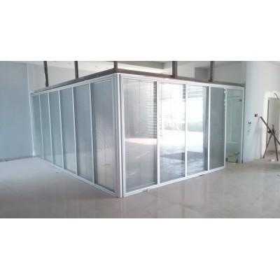 پارتیشن آلومینیوم دو جداره تمام شیشه
